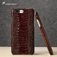 Роскошные янтарь зерна для iPhone 7 Plus Топ кожаный чехол, Подлинная крышка теплые для iPhone 6 6S плюс с внутренним логотип Coque