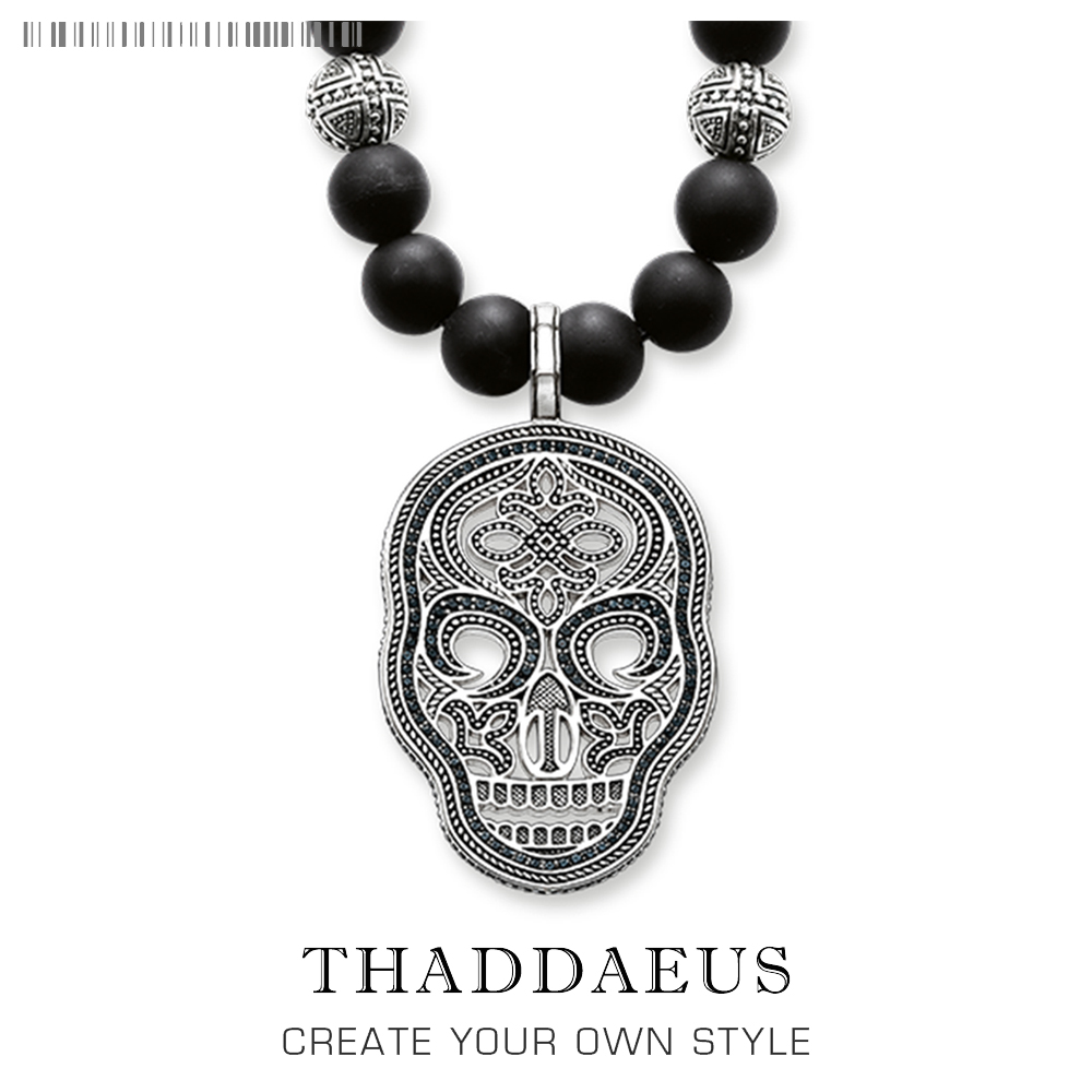 Skulls Cross Necklace,2017 Brand New Ts Strand Fashion Jewelry Thomas Style 925 Sterling Silver Rebel Cross Bijoux Gift For Men