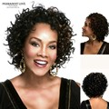 Synthetic hair black curly short wigs for black women fashion african american celebrity kinky afro curly wigs Peruca Preta