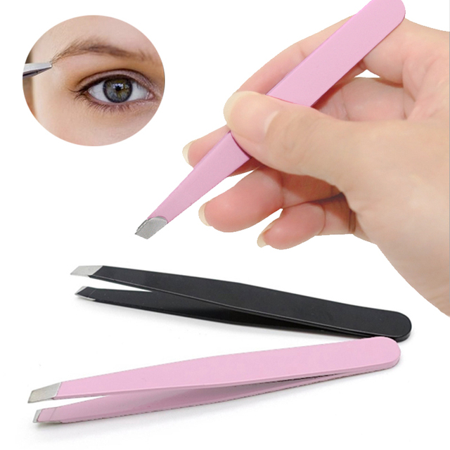 LNRRABC Sale Convenient Effective Eyebrow Tweezer Eyelash Extension Tweezers Eyebrow Removal Pink And Black Sanding