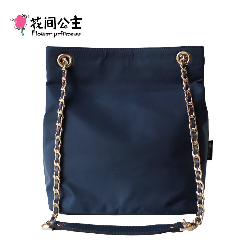 052c243a43 Flower Princess Embroidery Chian Bags Women Bucket Nylon Adjustable ...