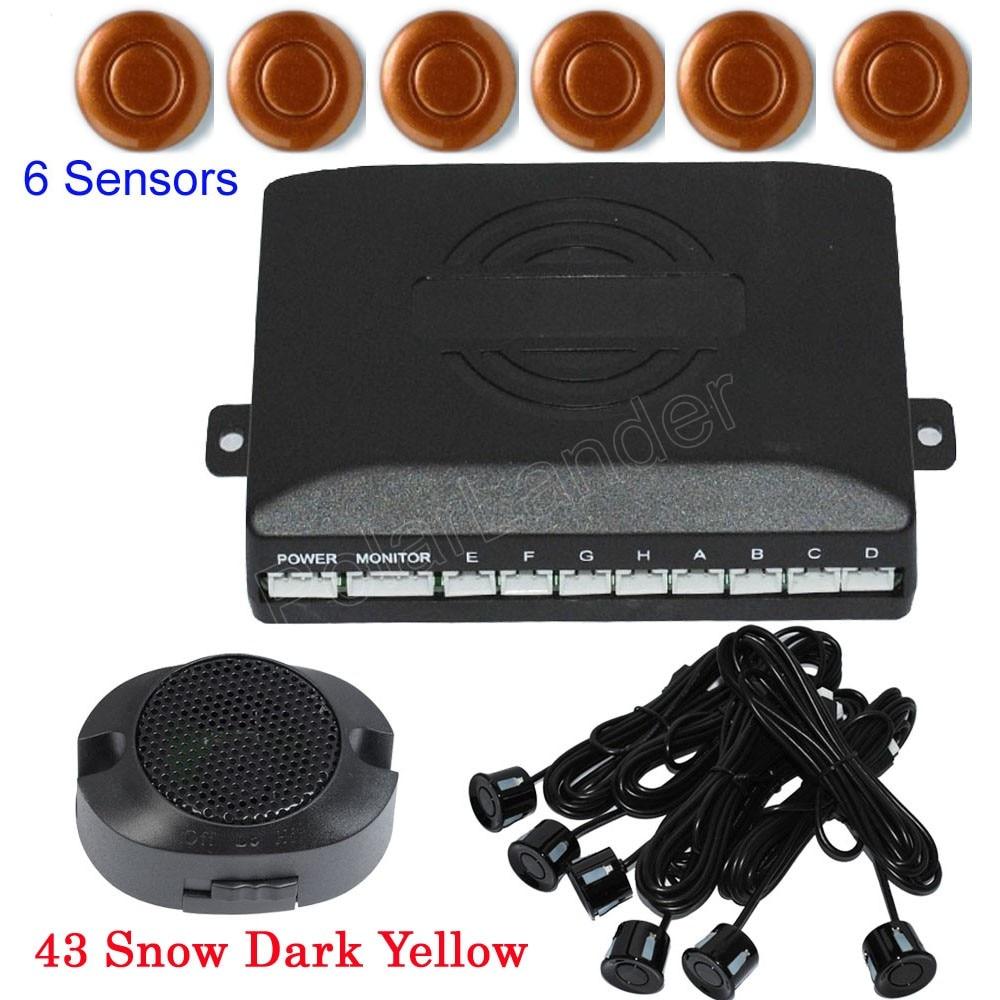 Новое поступление парковка Сенсор Авто Обратный резервного Антирадары Системы 6 Датчики 44 цветов звуковой сигнал оповещения