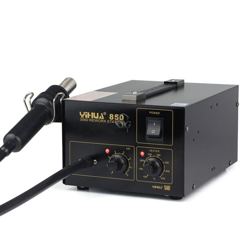 220V 400W 850 Constant Temperature Antistatic Soldering Station Hot Air Gun Heat Gun