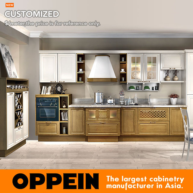Kitchen Cabinet Set Replacing Sink Professional Guangzhou Modern Wood Matte Pvc Op16 027
