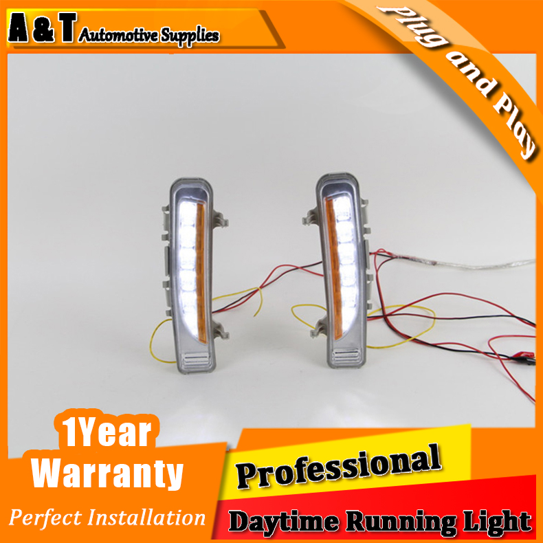 Car styling For Ford edge LED DRL For edge High brightness guide LED DRL led fog lamps daytime running lights two-way