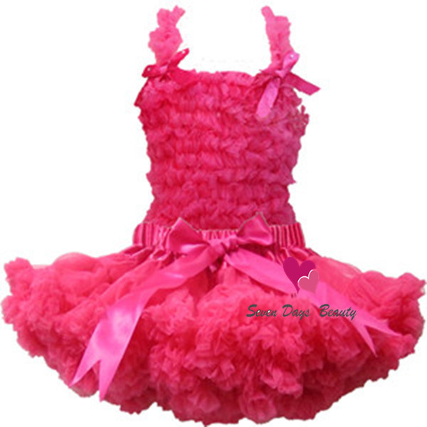 2014 Free Shipping Boutique Pure Color Baby Chiffon Ruffle Dress Set,Chiffon top + Pettiskirt,Girls DressTutu Set
