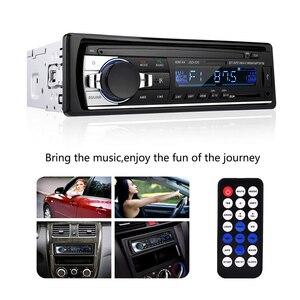 Image 1 - Radio de coche, reproductor de MP3 Digital para coche, receptor estéreo con Bluetooth incorporado, llamadas manos libres, 1 din, entrada de tarjeta SD auxiliar USB