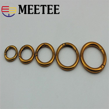 hot deal buy 4pcs metal spring o d ring openable ancient gold round carabiner snap clip keyring dog chain keyring diy bag parts accessories
