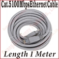BEST PRICE And QUALITY New 3FT 1M CAT5 CAT 5 Round UTP Ethernet Network Cable RJ45 Patch LAN Cord wholesale,Free&Shipping,PROM-