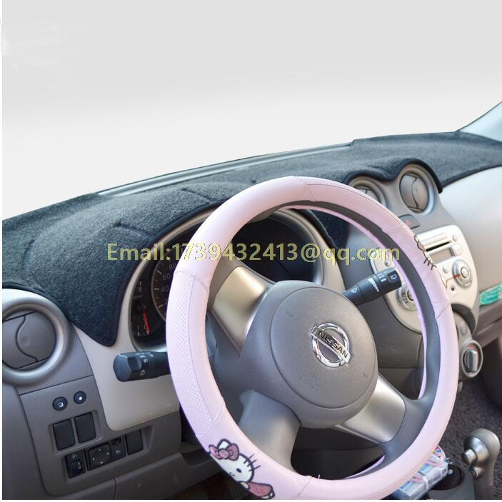 dashmat carpet Car dashboard covers accessories sticker for nissan MARCH Micra K13 2010 2011 2012 2013 2014 2015 2016