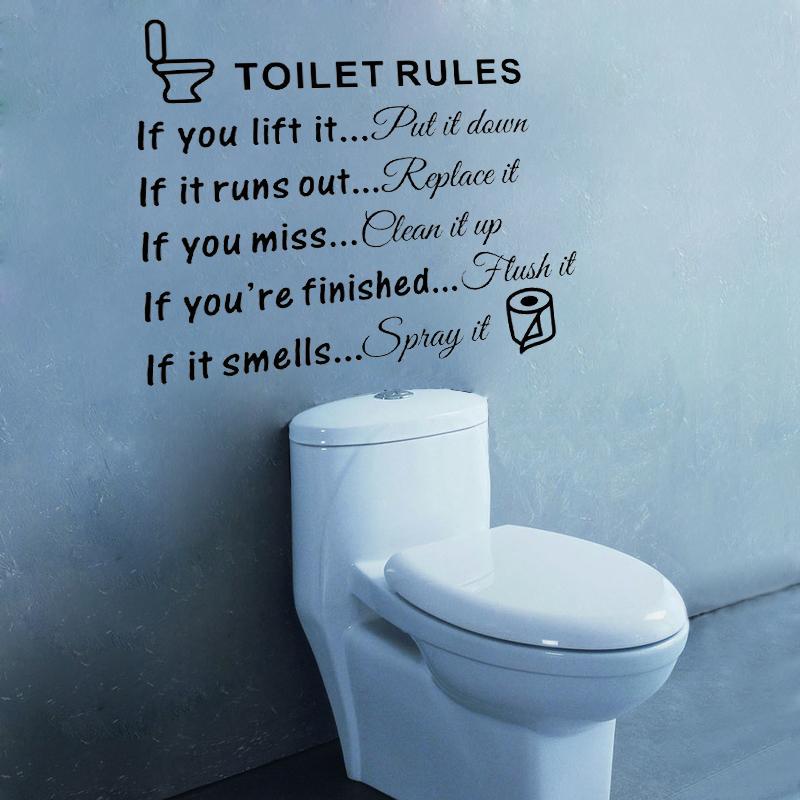 d491 toilet rules quotes vinyl wall decal sticker for home decor