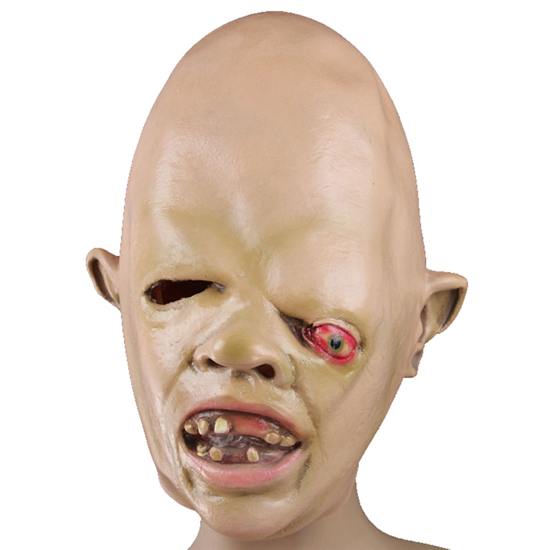 Latex full face head cosplay costume carnival halloween party crazy horror scary mask terror cool masquerade masks supplies ...