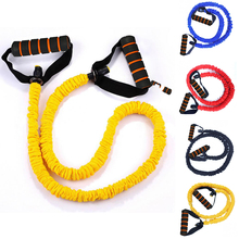 Outdoor 120cm Yoga Pull Rope Fitness Resistance Band Exercise Tube Practical Training Elastic Workout Cordage D30