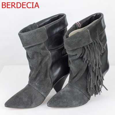 Popular Gray Booties Women-Buy Cheap Gray Booties Women lots from ...