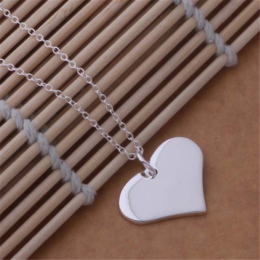 buyinbest Explosion models Specials silver plated jewelry exquisite fashion classic loving pendant necklace package mail AN686