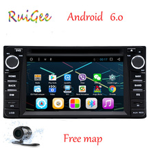 2 Din Android 6.0 reproductor multimedia del coche de navegación GPS 2din coche unidad principal de dvd para TOYOTA Corolla Camry Rav4 Previa HILUX