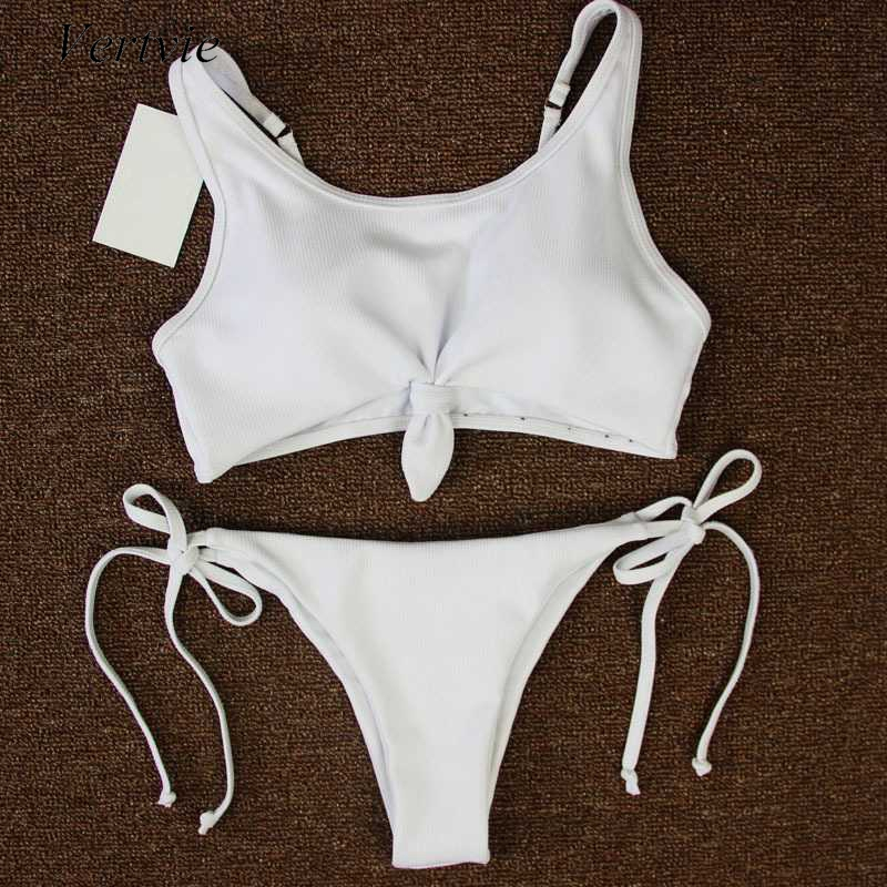 Vertvie Women's Bikini Set Sexy Thong Bandage Push Up Swimsuit Swimwear Bowknot Beachwear Bathing Suit Monokini Biquini 2017 New велосипед kona kamehameha 2013
