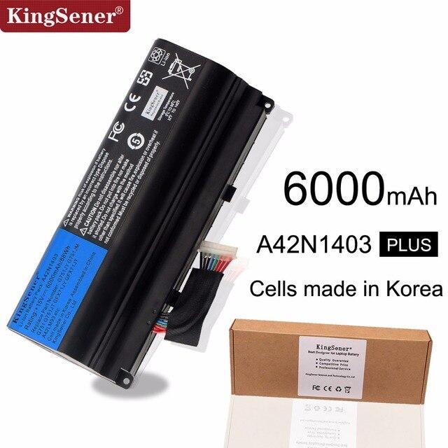 KingSener Korea Cell A42N1403 Laptop Battery for ASUS ROG G751 G751JY G751JM G751JT GFX71JY GFX71JT A42LM9H A42LM93 4ICR19/66-2
