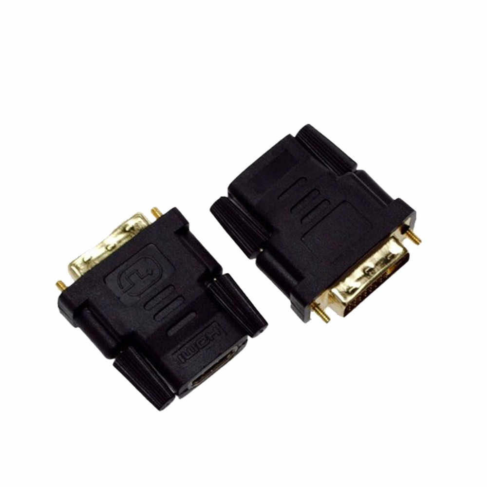 HIPERDEAL  DVI-D Male (24+1 pin) To HDMI Female (19-pin) HD HDTV Monitor Display Adapter  Jn24