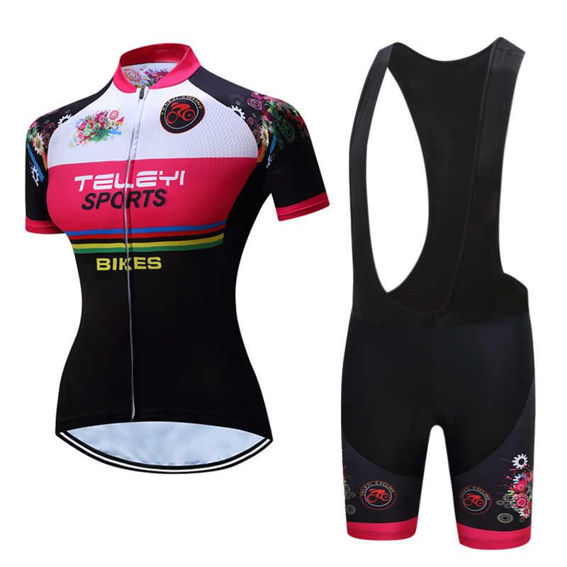 מותג אופניים ג 'רזי סט אופני גופיות כביש מסלול MTB מירוץ לחתוך Aero רכיבה על אופניים ג' רזי נשים ItalianClothing מהיר יבש קצר שרוול