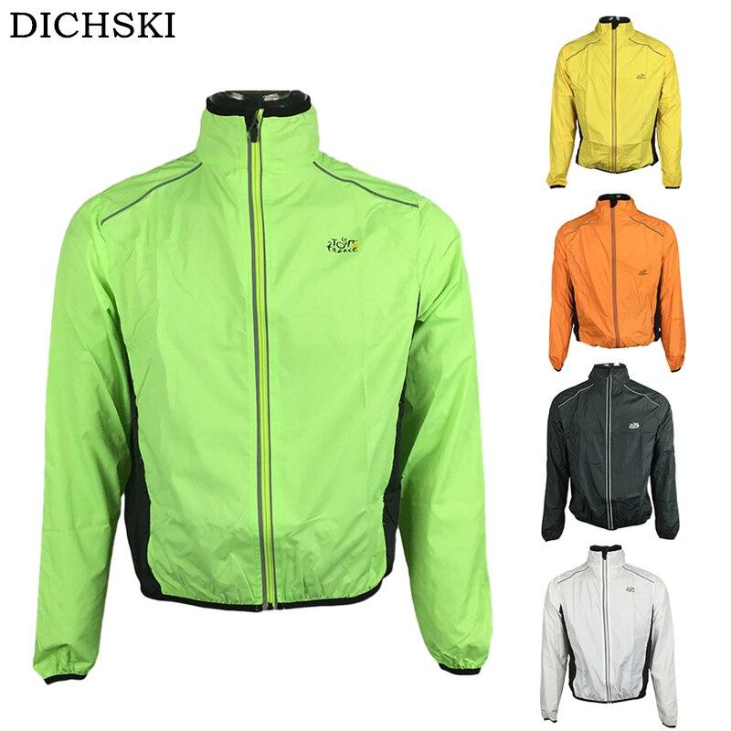 DICHSKI Cycling Jackets Men MTB Coat Clothing Cycling Jersey tour de france Bicycle Bike Rain Quick dry Bike Sports Wind Jacket стоимость