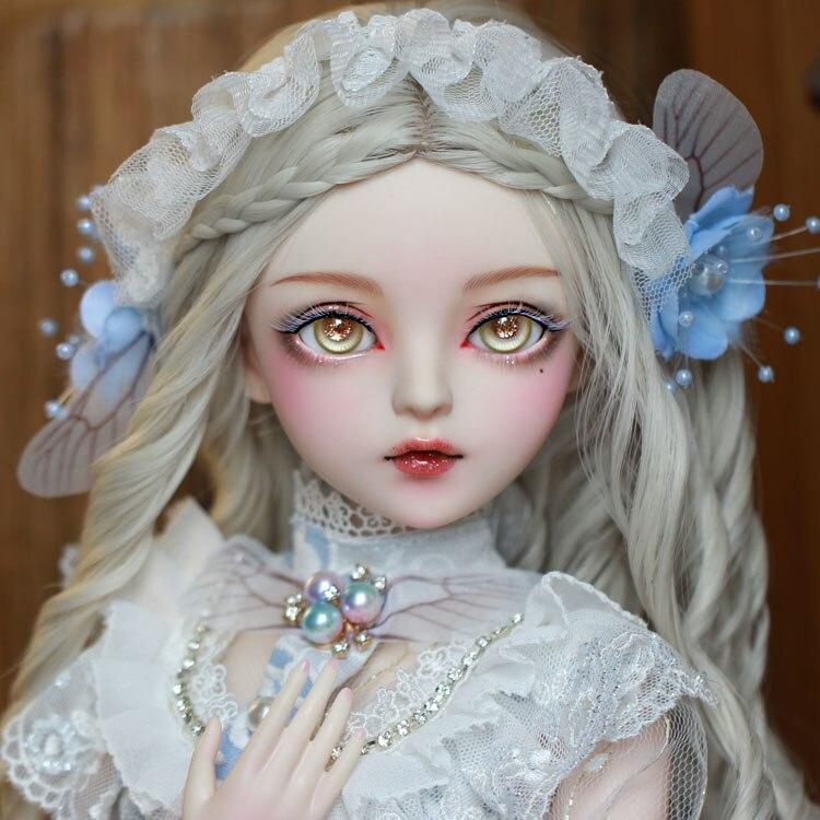 Bebe reborn bjd bola articulada boneca presentes para a menina pintados à mão maquiagem fullset lolita/princesa boneca com roupas borboleta fada