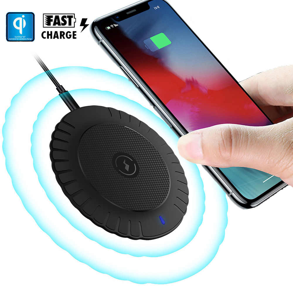 Для iPhone X 8 Plus 5W Быстрое беспроводное зарядное устройство Беспроводная зарядка Коврик для samsung S9 S8 S10 huawei P30 Pro mate 20 RS