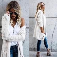 Abrigo chaquetas y abrigos lana de cordero con capucha suéteres de punto  con el bolsillo abrigos y chaquetas mujeres 2018JUL30 38cd057bb679