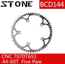 Stone 144 BCD Chainring Fixed Gear Track Bike fixie narrow and wide 44/46/48/50/52/54/56/58/60T Bicycle Round Tooth Plate