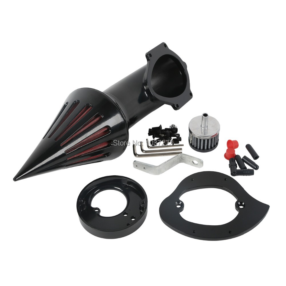 цена на Free Shipping Motorcycle Motor Black Spike Air Cleaner Kits Intake Filter For Honda VTX 1300 All Years