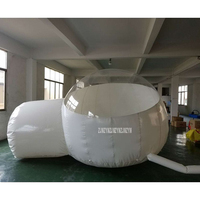 0.45mm PVC Inflatable Bubble Tent Lawn Dome Ourdoor Hiking Camping Tents Transparent and White Color Advertising Inflatable Tent