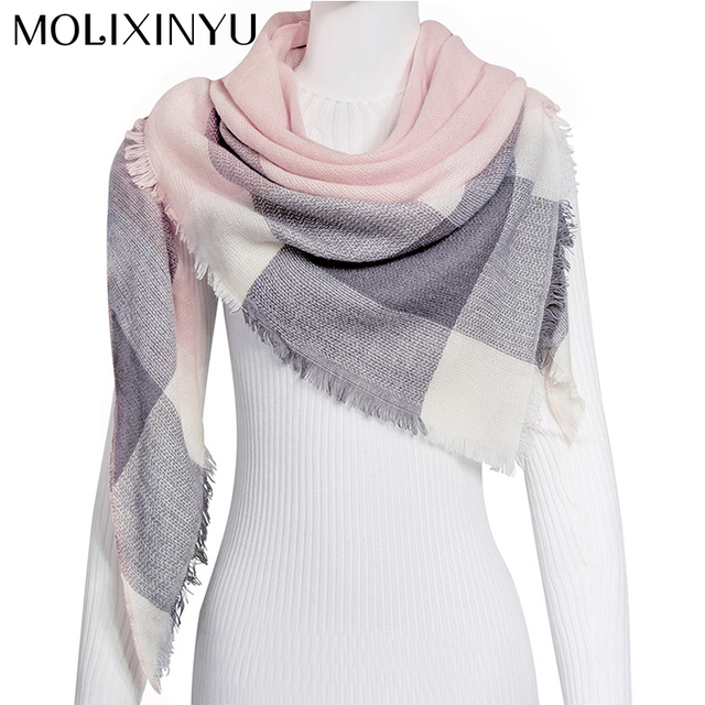 MOLIXINYU 2018 New Comfortable Long Scarves Shawl Winter Baby Scarf For Children Winter Scarf For Girls Warm Scarves