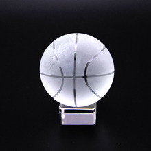 50mm Clear Asian Quartz Glass Crystal Basketball Sphere Fengshui Gift Paperweight Home Decoration& Ornaments Sports Souvenir