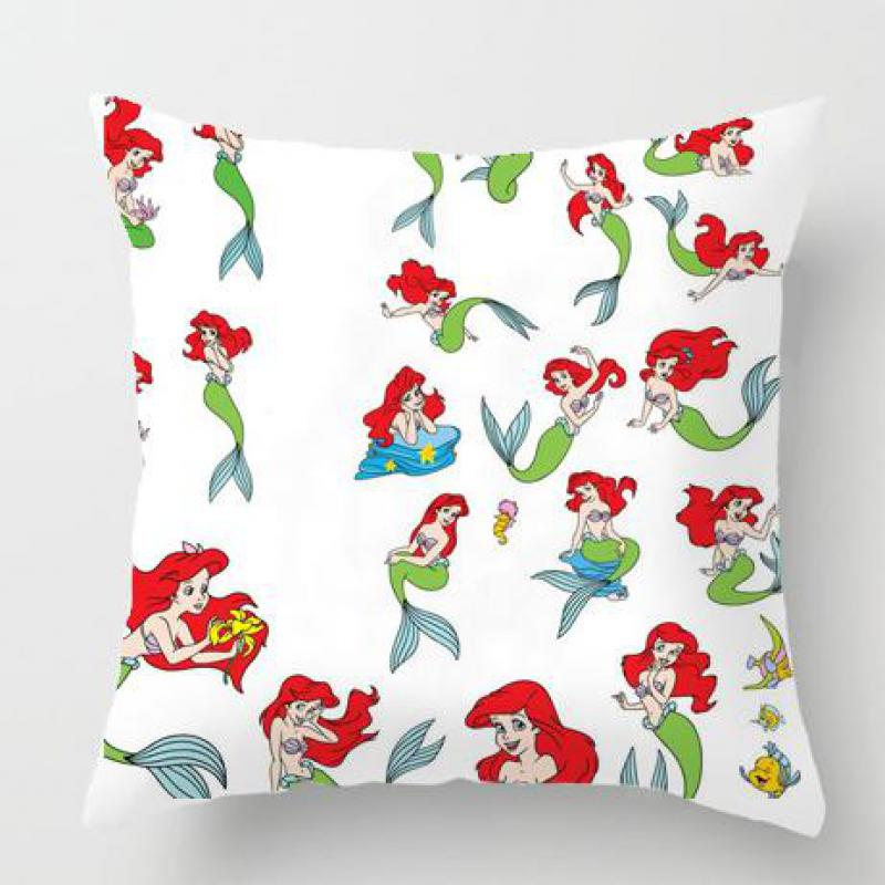 Cartoon Anime Pillow Little Mermaid Cushion Fish Funny Chicken Egg Baby Cute Kawaii Cat Dog Head Coussin Emoji Party Decoration