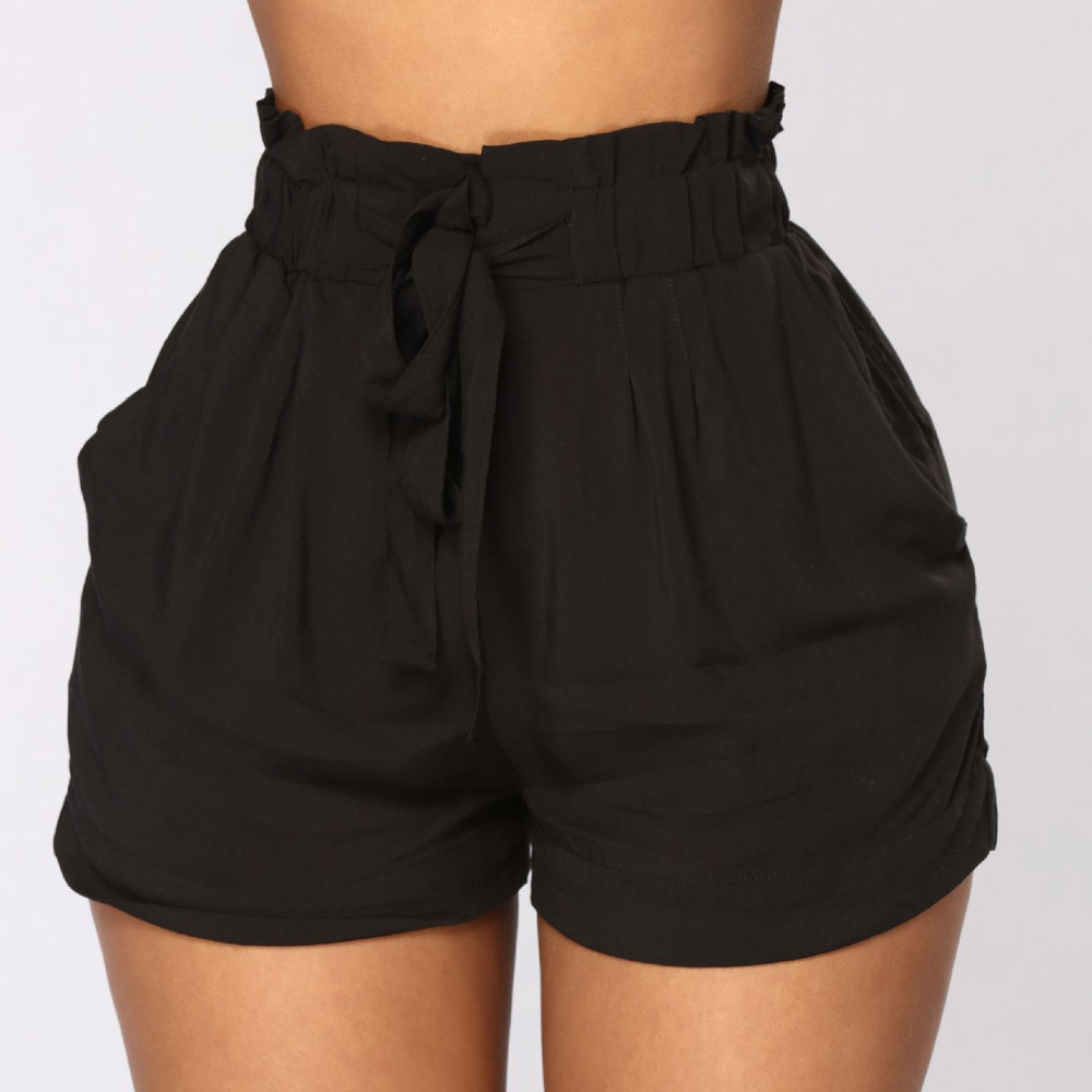 HTB1ic52U4TpK1RjSZFKq6y2wXXaz - women's shorts femme Women Retro Casual Fit Elastic Waist Pocket Shorts High Waist String shorts female joggers