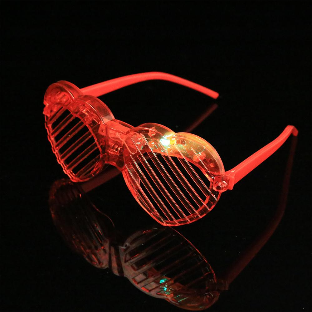 Пластиковые светодиодный Оски с подсветкой Flash вечерние светящиеся солнцезащитные очки вечерние реквизит вечерние украшения на ночь подарок на день Святого Валентина случайный цвет