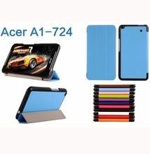 Enzi Ultra Slim Folio Stand Tri fold Custer PU Flip Leather Case Cover For Acer Iconia