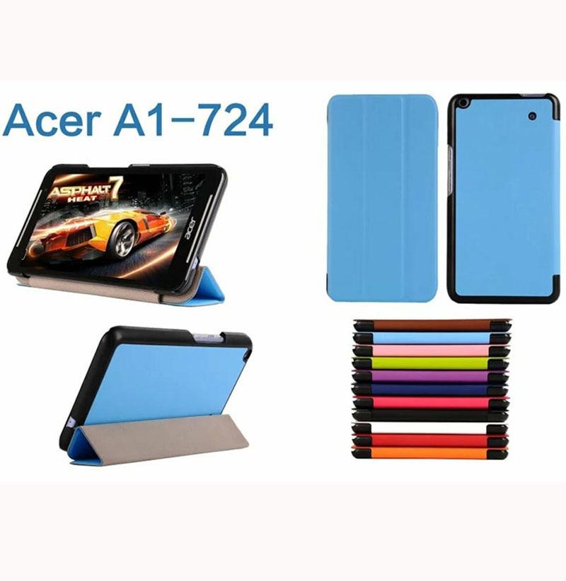 ocube Ultra Slim Folio Stand Tri fold Custer PU Flip Leather Case Cover For Acer Iconia