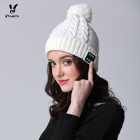 VBIGER Women Hat Wireless Bluetooth Headphone Binaural Smart Hat   Skullies     Beanies   Handmade Hat Winter Warm Cap Music Knit Bonnet