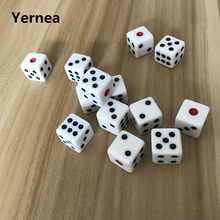 10Pcs/Lot 16mm Dice Mahjong Points Hexahedron Right Angle Dungeons And Dragons Game Rpg Set Yernea
