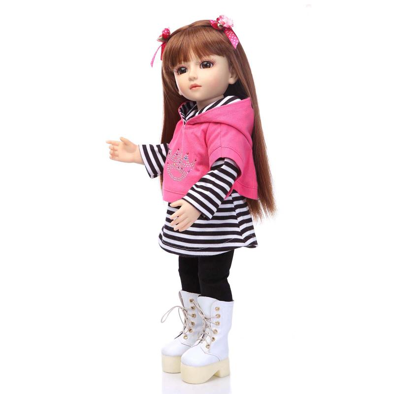 17inch Plastic Joint Dolls Dress up Princess BeBe Reborn 45cm Plastic Reborn Dolls Kids Toys Pullip Fo Children Birthday Gift кукла pullip gosomi isul