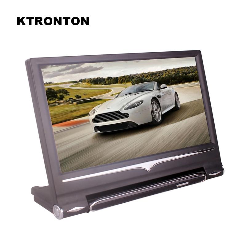 9 pulgadas 16:9 Universal HD TFT Color LCD reposacabezas monitores para coche reproductor de DVD con control remoto y 2 entradas de vídeo bidireccional