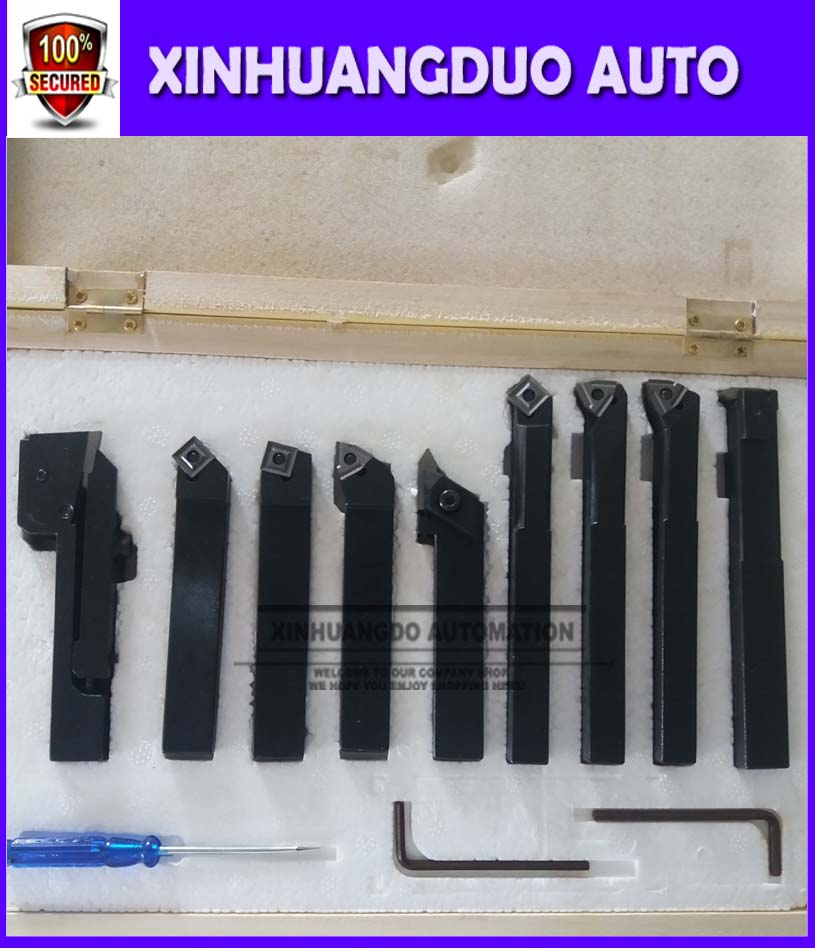 Free shipping Inserts 9pcs//set for 12mm indexable carbide turning tool set
