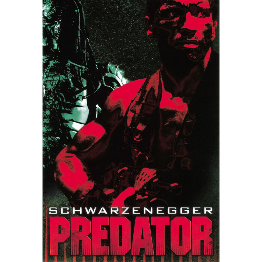 J1323 Predator Horror Sci Fi Alien Schwarzenegger Movie