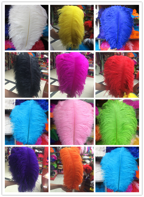 50 pcs beautiful ostrich feathers 16 18 inches 40 45 cm choice of colors