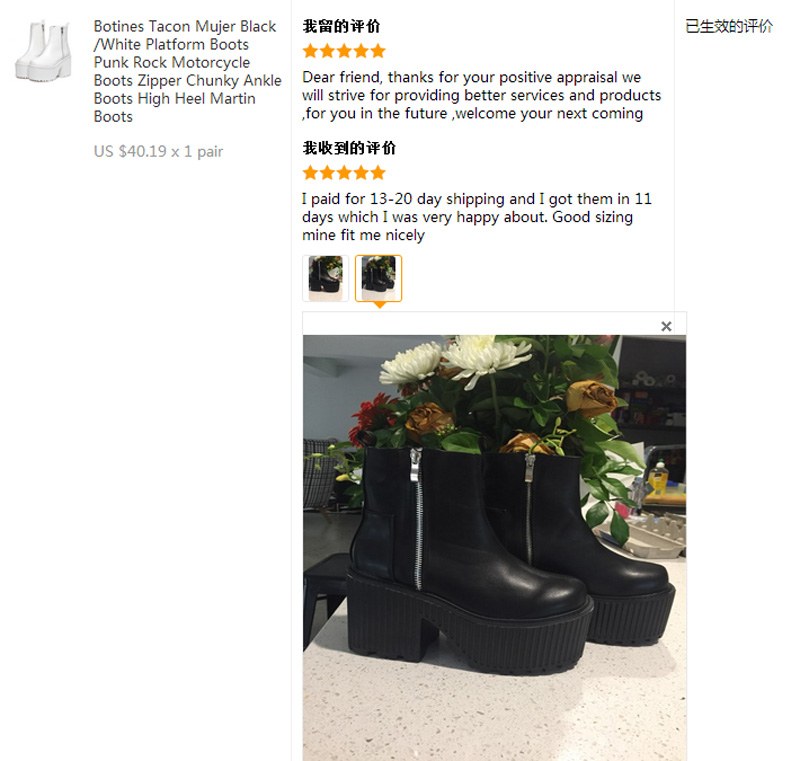 Details about  /Women/'s Goth Wedge Heel Side Zip Casual Knee High Boots Round Toe Riding Shoes D