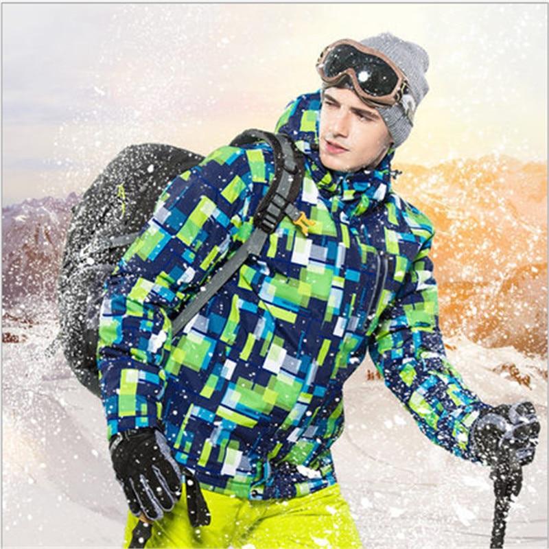 Prix pour Haute Qualit sport En Plein Air vêtements d'hiver Nouveau Ski Vestes homme coupe-vent manteau chaud mâle étanche snowboard ski veste