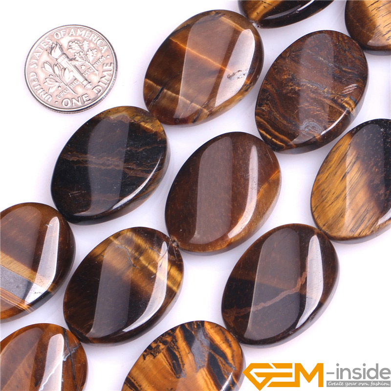 Oval Shape Beads Natural Stone Beads DIY Bead For Jewelry Making Strand 15