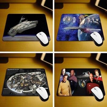 Los capitanes de la Starship Enterprise nuevo juego de ordenador de escritorio ratón antideslizante almohadilla de goma 18cmX22cm y 25cm x 29cm Mouse Pads