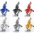 NEW Moto Accessories Motorcycle Racing  CNC Aluminum Rear Sets Foot Pedals Pegs Rearsets For KAWASAKI ZX6R  2005- 2008 6 Colour